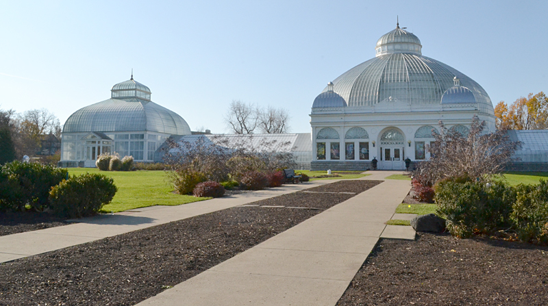 The entrance beds at the Buffalo and Erie County Botanical Gardens lacked curb appeal in this view from autumn 2011. Now that the garden has been designated a Proven Winners Signature Garden, the beds will be transformed. Photo by Connie Oswald Stofko