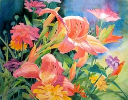 Lilies by Susan Webb Tregay