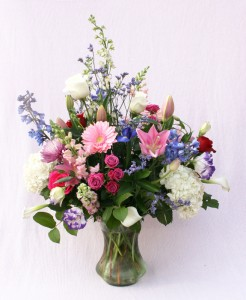 Monet flower arrangement from Mischler's