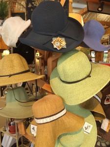 gardening hats from Lockwood's in Hamburg