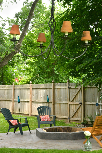 decorative hanging and firepit in Williamsville