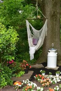 hammock in shady garden in Williamsville NY