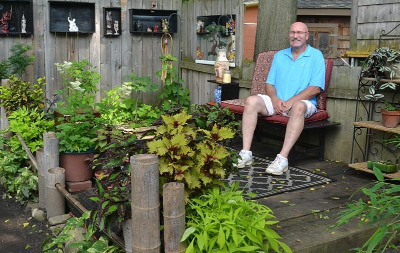 Rich Groblewski in Japanese garden
