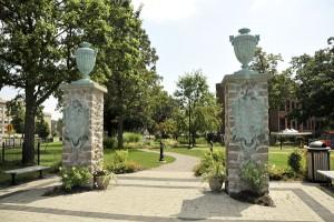 Schoellkopf Park entrance courtesy Niagara Falls Medical Center