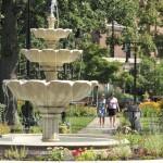 Schoellkopf Park fountain courtesy Niagara Falls Memorial Medical Center