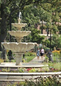 Schoellkopf Park fountain courtesy Niagara Falls Memorial Medical Center