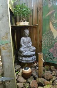 secluded spot in tea garden in Lancaster
