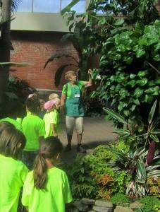 docent leading tour at Buffalo Botanical Gardens