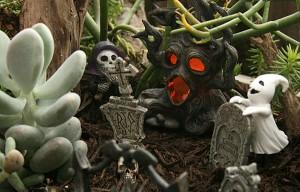 Spooky fairy garden cemetery from Mischler's