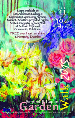 2015 poster for Samuel Capen Garden Walk
