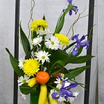flower arrangement in Hamburg NY Curious George
