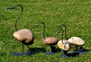 garden decorations made of fieldstone