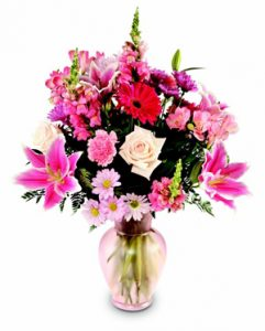 Pink Perfection floral arrangement