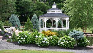 gazebo on Pulaski Gardening Friends garden tour
