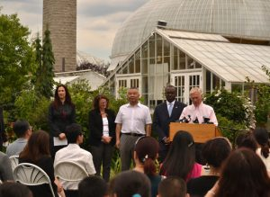 ceremony with Chinese at Botanical Gardens
