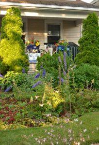 overview of garden on Samuel Capen Garden Walk