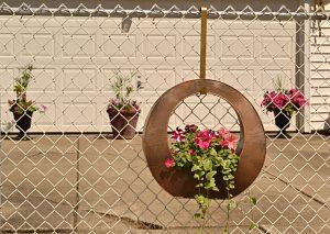 planter on fence in Cheektowaga NY