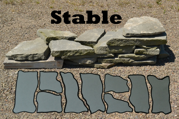stacking stones for stable garden wall
