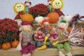 autumn display with pumpkins