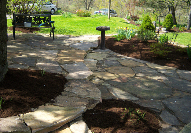 patio and walkway