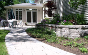 patio with walkway from A Growing Business