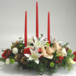 lily centerpiece for Christmas at Mischler's in Williamsville NY