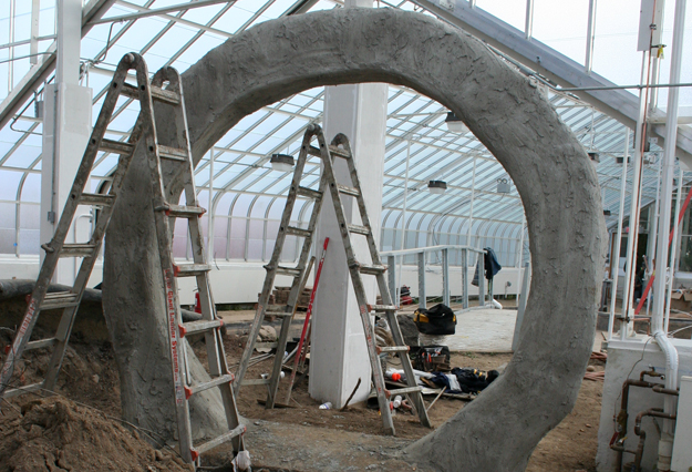 A moon gate, a traditional entrance to a Chinese garden, will be a new hardscape feature. Photo courtesy Buffalo and Erie County Botanical Gardens