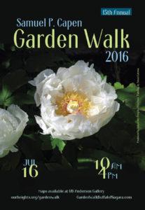 poster for Samuel Capen Garden Walk 2016