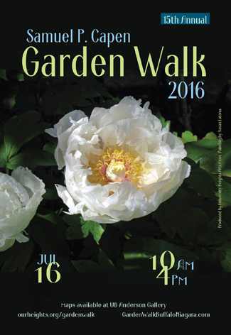 poster for Samuel Capen Garden Walk 2016