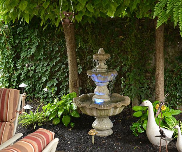 fountain in backyard in West Seneca