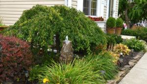 fountain in front garden in West Seneca