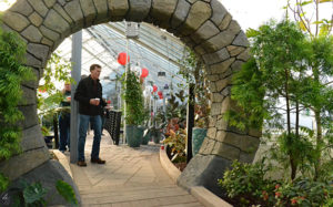moon gate at Buffalo and Erie County Botanical Gardens
