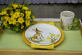 place setting in flower show