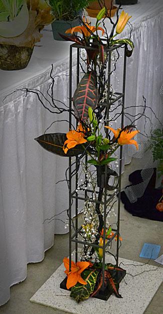 floral arrangement tribute to September 11
