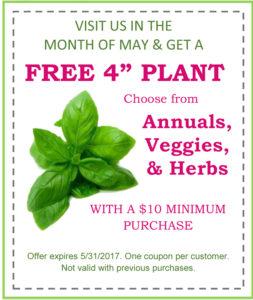 Badding Bros free plant coupon
