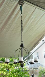 candle chandelier in Buffalo garden