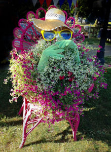 pink lady at Lewiston GardenFest
