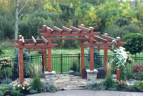 Japanese-inspired garden in Pendleton