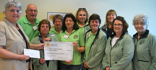 Silver Creek Hanover Garden Club receiving grant from foundation