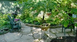 patio in backyard on Parkside Garden Tour