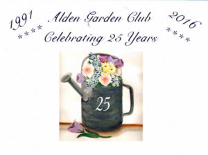 post office cancellation for Alden Garden Club anniversary