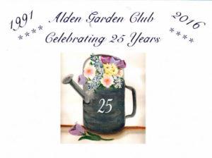 post office cancellation for Alden Garden Club anniversary