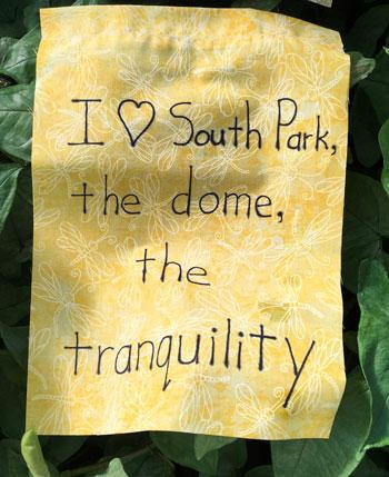 gratitude flag at Buffalo and Erie County Botanical Gardens