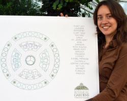 designer of medicinal garden at Buffalo and Erie County Botanical Gardens