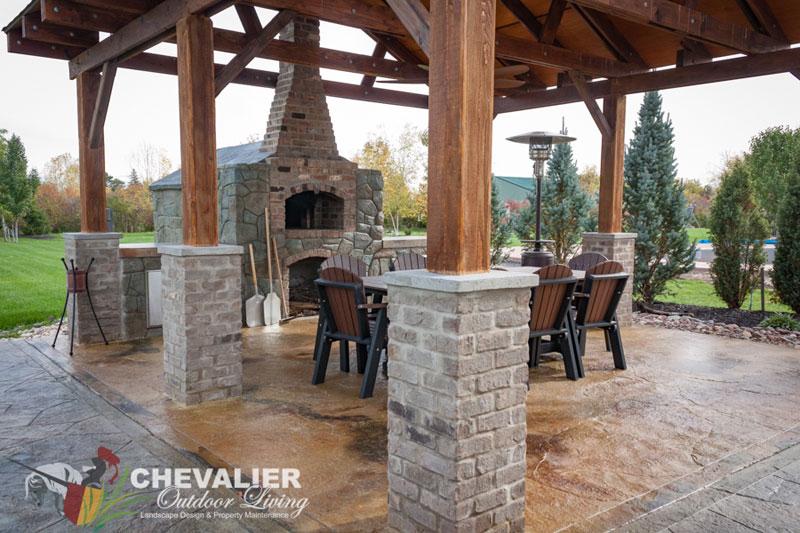 outdoor-kitchen-pizza-oven-courtesy-Chevalier - Buffalo ...