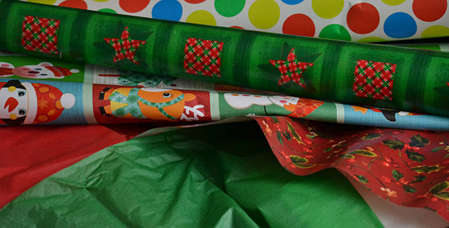 wrapping paper to compost