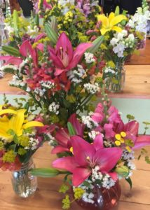 bouquets at Lockwood's in Hamburb