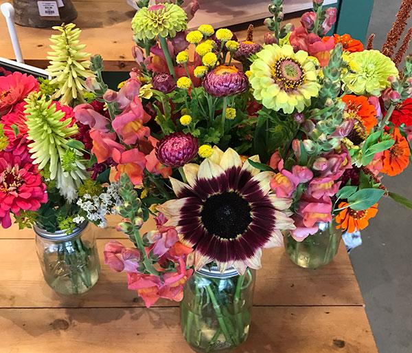 fresh cut bouquets at Lockwood's in Hamburg