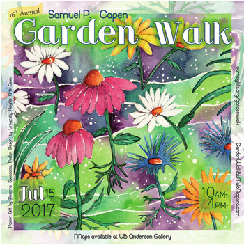 poster for Samuel Capen Garden Walk 2017