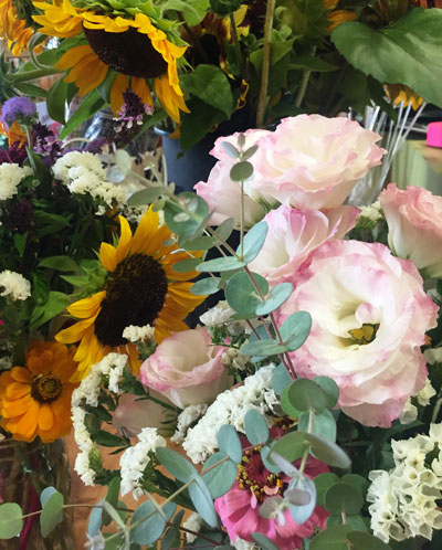 flower bouquets from Lockwood's Greenhouses